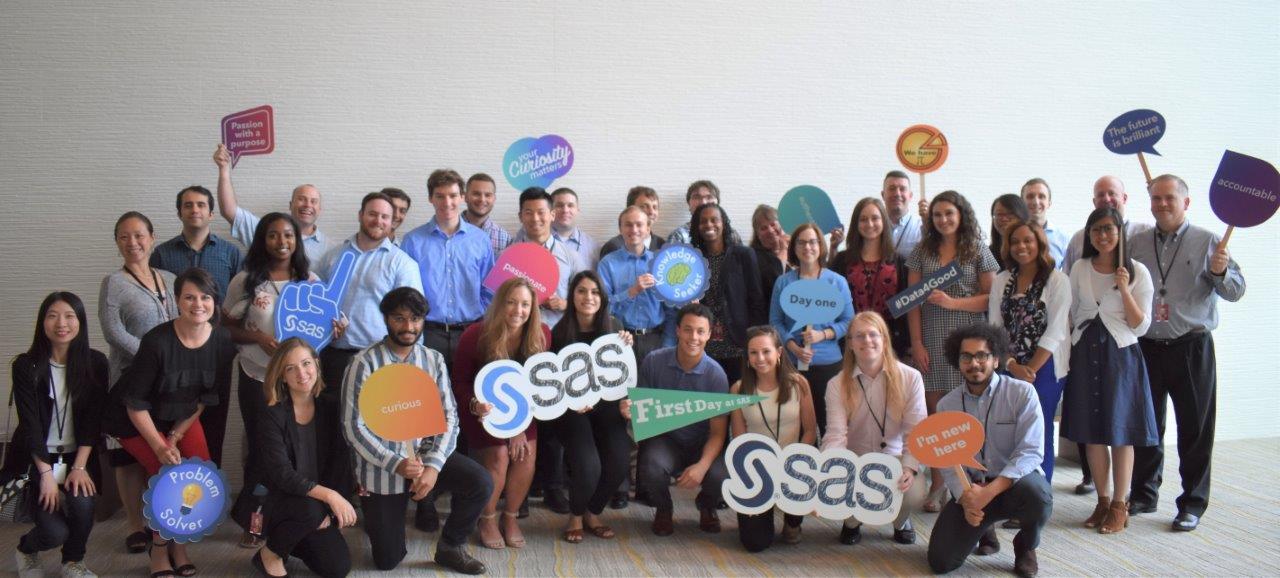 SAS employees at New Hire Orientation