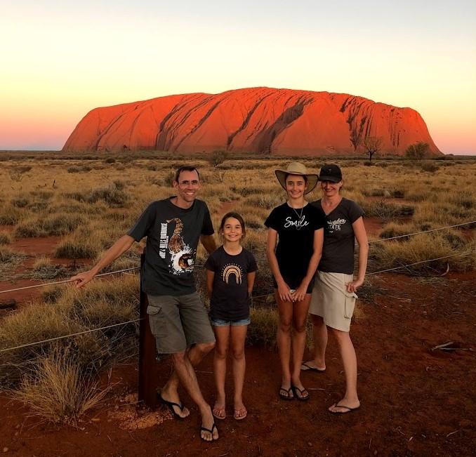 Falko and his family exploring Uluru-Kata Tjuta National Park in Australia