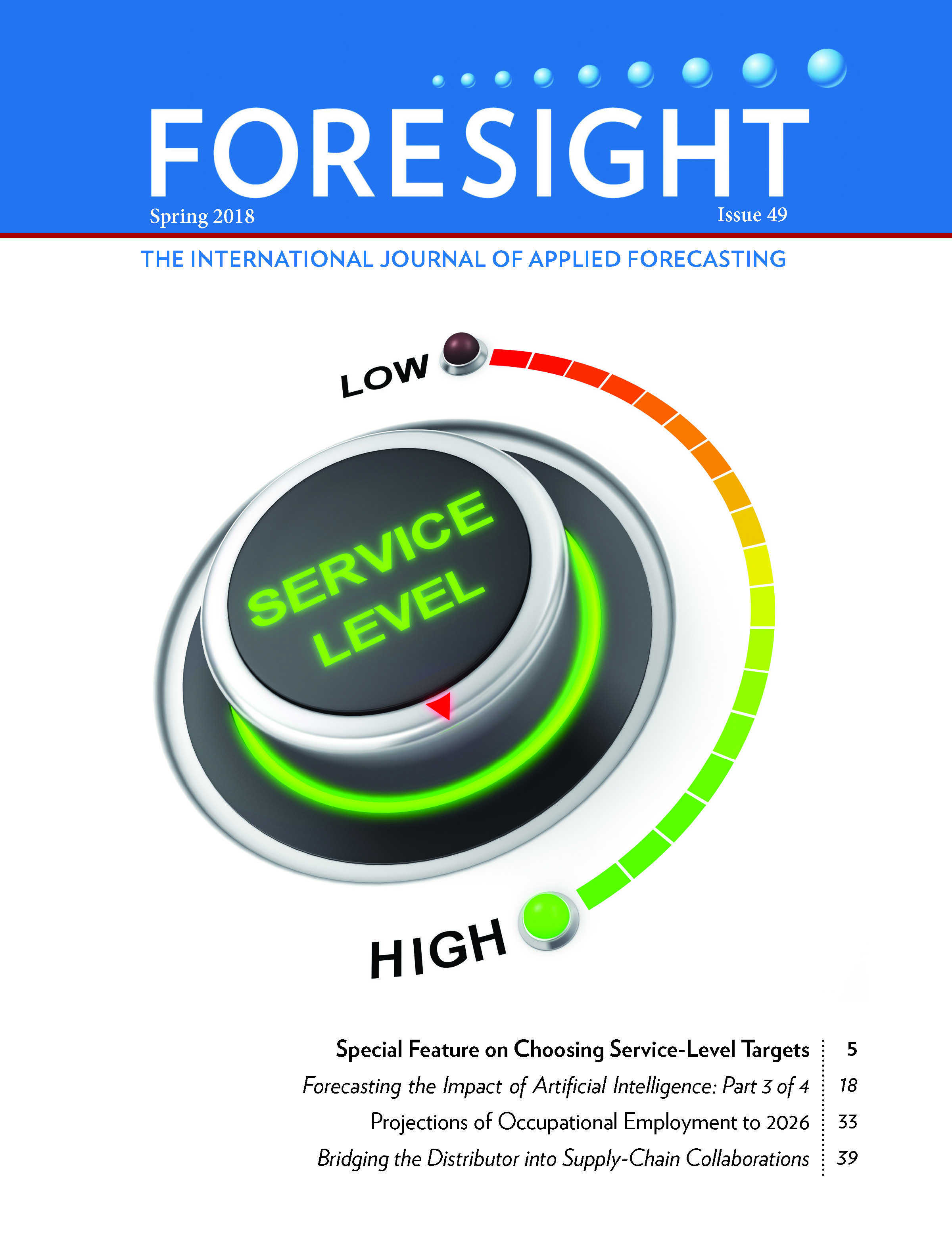 Cover of Foresight Spring 2018