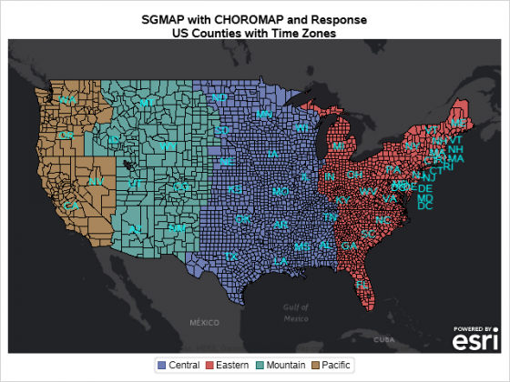 SGMAP with CHOROMAO of Counties