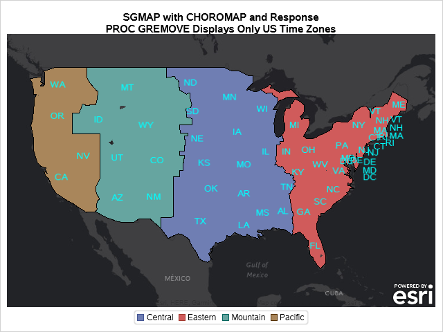 SGMAP with CHOROMAP and GREMOVE