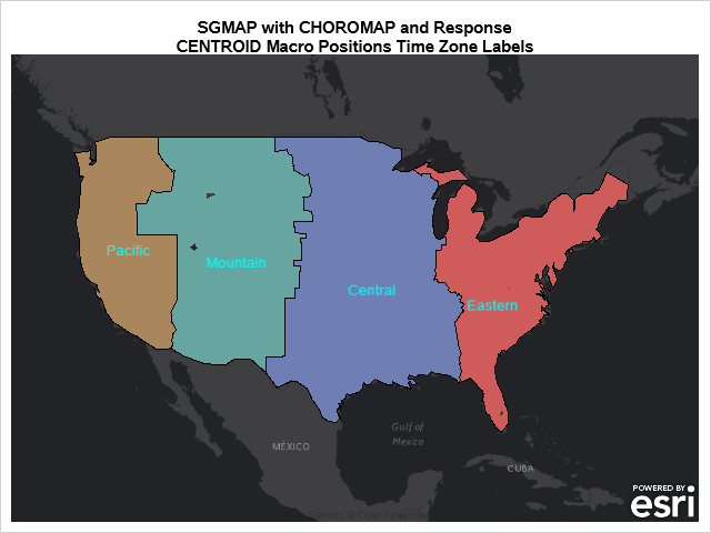 SGMAP with CHOROMAP using %CENTROID