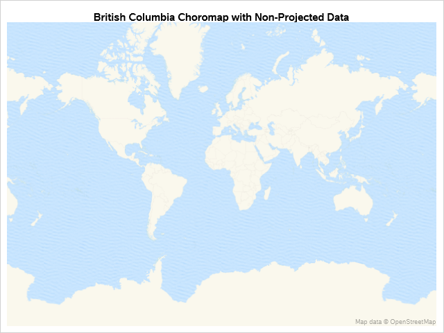 British Columbia using downloaded values on OpenStreetMap