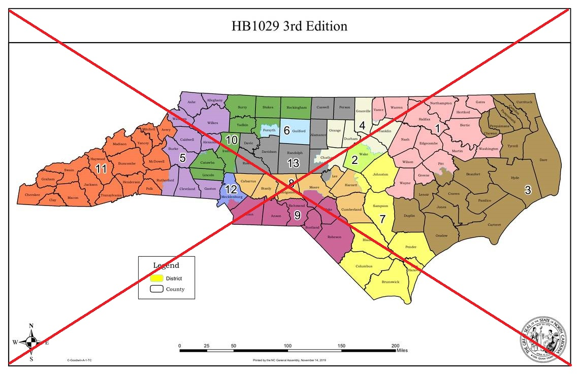 Plotting NC\'s new congressional districts maps for 2020 ...