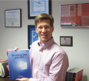 Rick Wicklin with Book; Click to enlarge