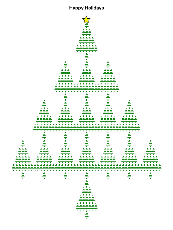 Self-similar Christmas tree created in SAS