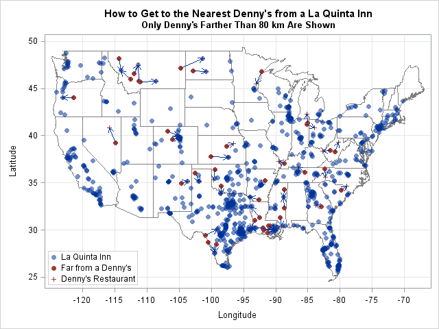 Nearest Denny's for La Quinta Inns That Are Far from a Denny's