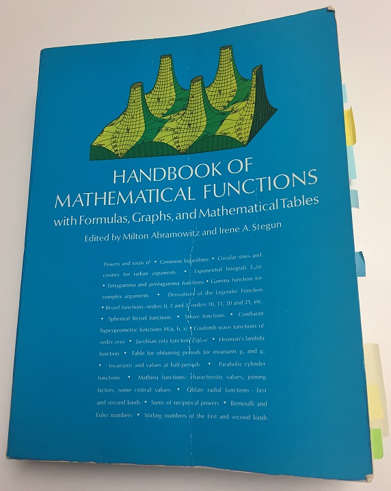 Abramowitz and Stegun, Handbook of Mathematical Functions