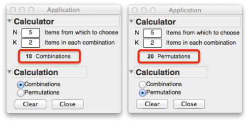 combination math calculator