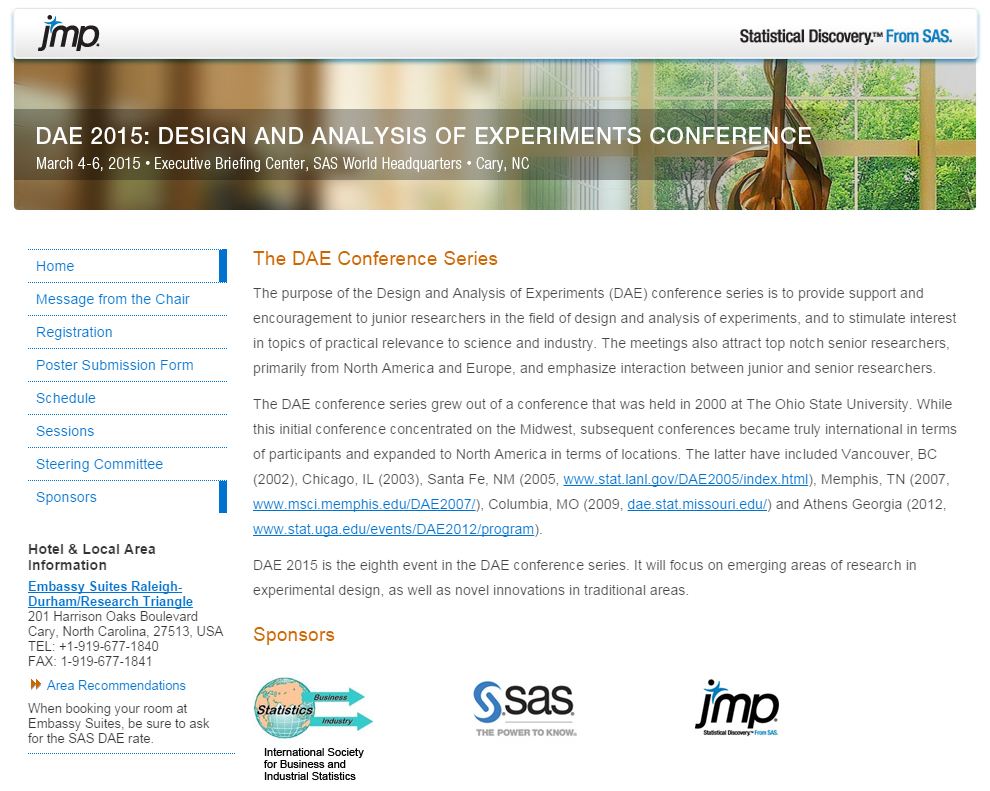 DAE 2015 conference website