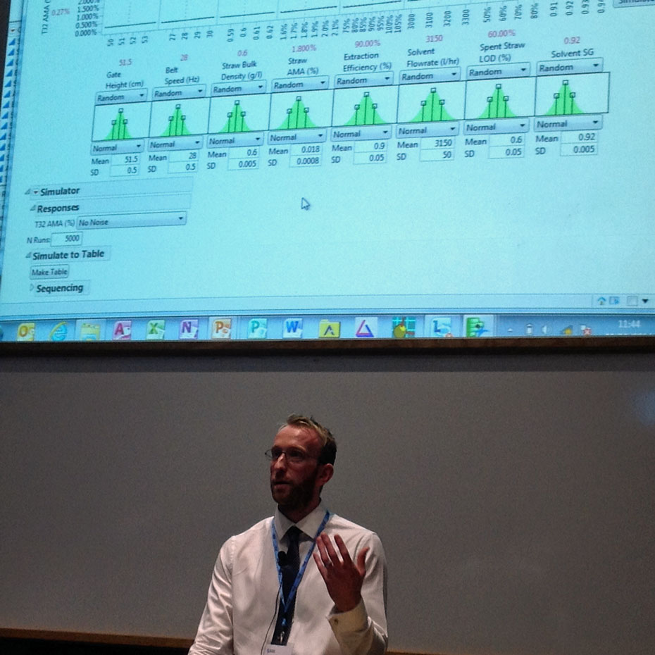 David Payne of Macfarlan Smith explains how he uses the simulator in JMP to solve problems.