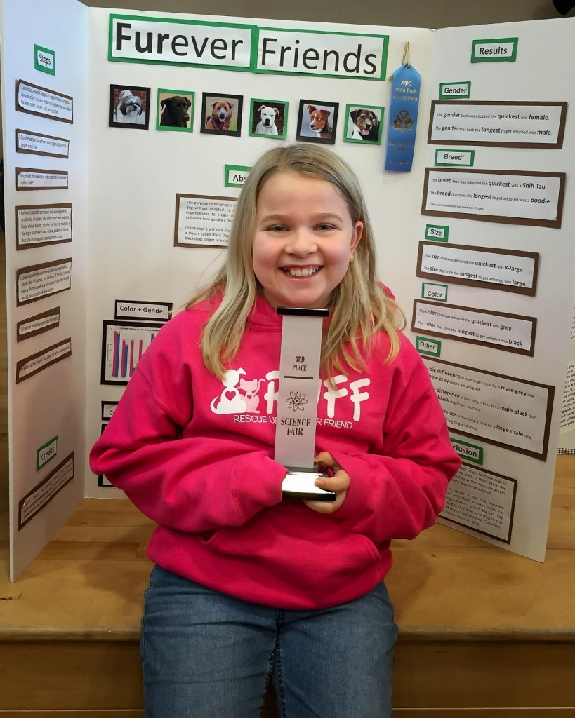Carah Gilmore entered her school's science fair competition and advanced to higher levels. (Photo courtesy of Ryan Gilmore)