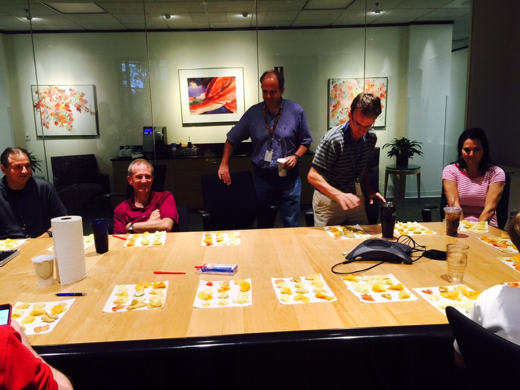 JMP staff volunteered to taste 10 different potato chip flavors in our choice experiment.