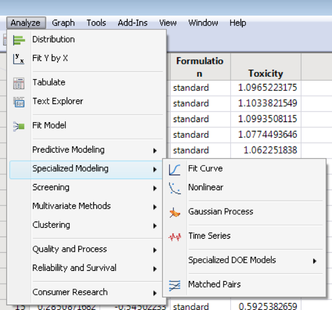 You can easily find the Fit Curve platform under Specialized Modeling in JMP 13.