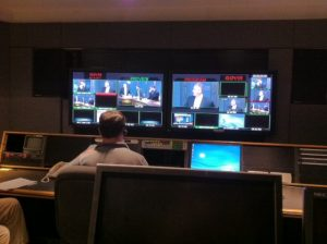Control room above news set