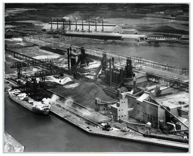 Undated view of U.S. Steel Corporation's Fairless Works on the Delaware River