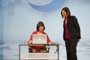 Amy Peters and Michelle Eggers demo SAS software