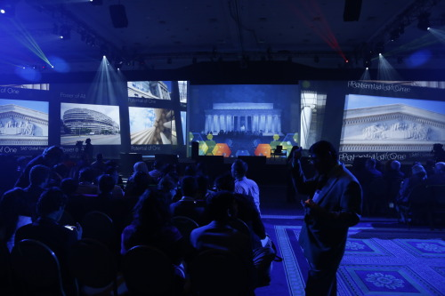 The screen at SAS Global Forum