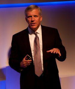 SAS CMO Jim Davis at Premier Business Leadership Series event in London.