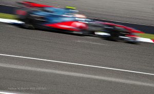 Blurred Formula One Car