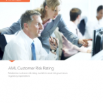 Cover page for AML Customer Risk Rating white paper
