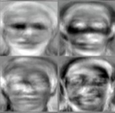 Principal component analysis of facial photos