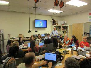 students attend a free sensor data workshop