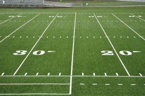 Football field showing 30-yard-line
