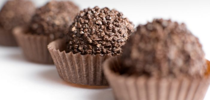 Chocolate candy close up