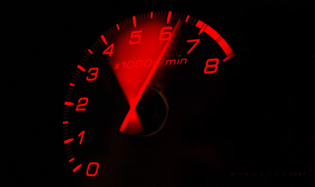 Red line tachometer