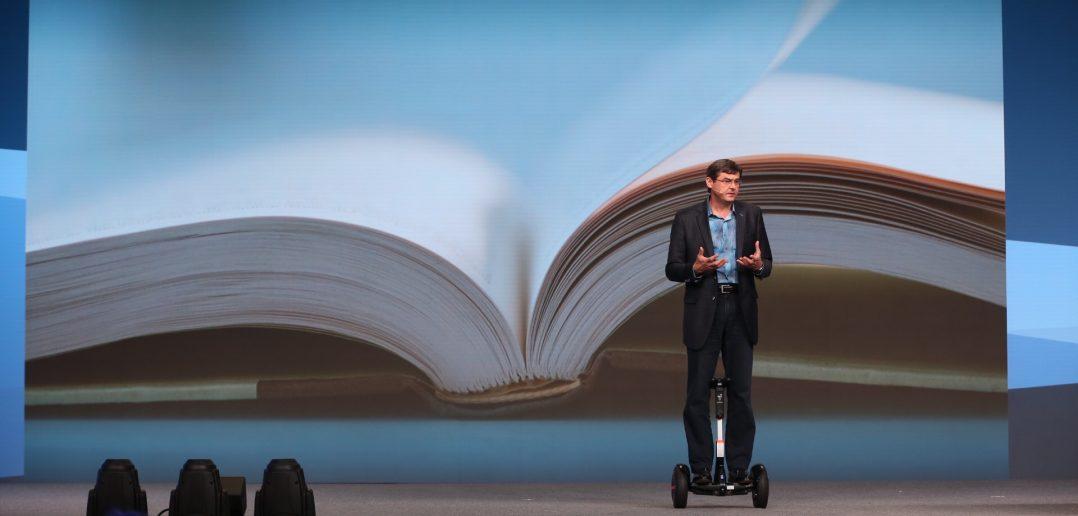 Oliver Schabenberger on a Segway at SAS Global Forum
