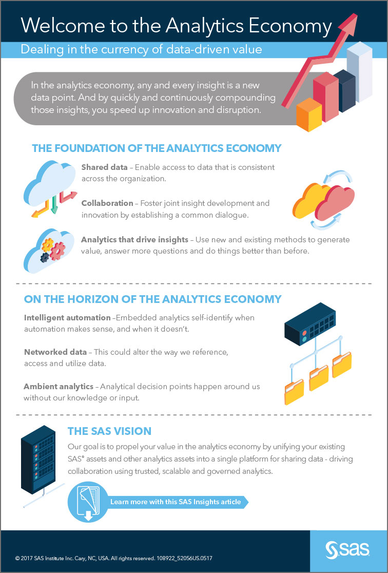 Infographic describes analytics economy