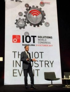Randy Guard on stage at IoT World Congress