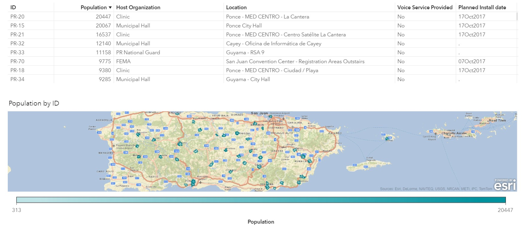 Hostos Campus Map.Analytics Helps Puerto Rico Restore Communications After Disaster