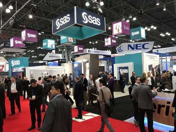 Crowd at SAS booth at NRF