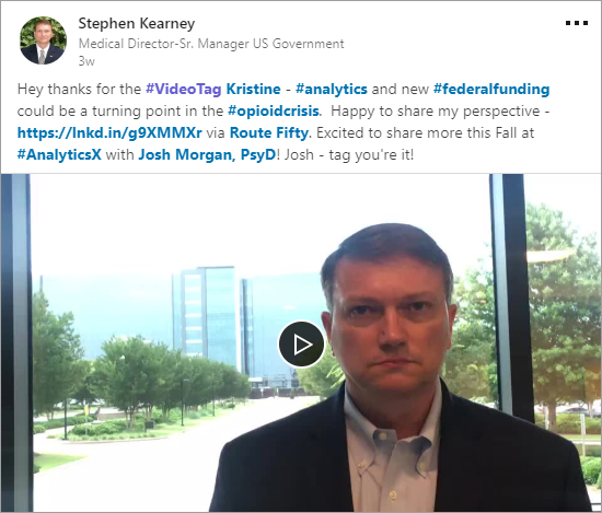 Stephen Kearney's #VideoTag post on LinkedIn