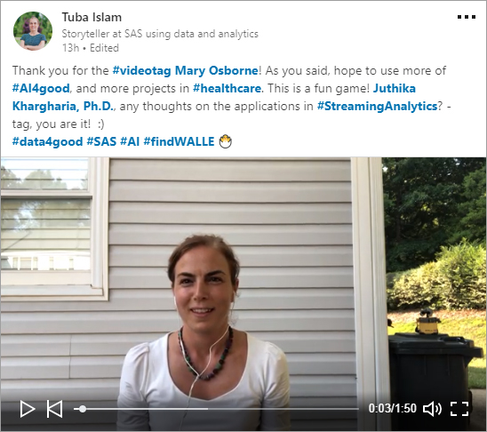 Tuba Islam's #VideoTag post on LinkedIn