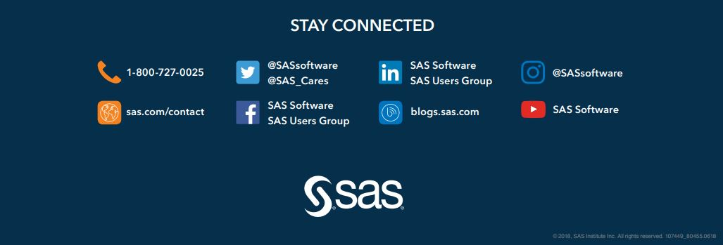 Contact information for SAS channels. Click for pdf.
