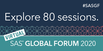 Virtual SAS Global Forum banner