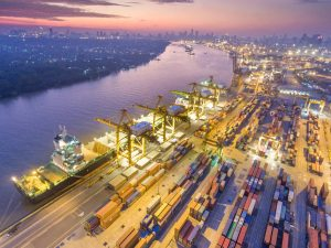 Ship and containers represents the need to know your supplier