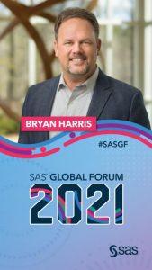 SAS Global Forum promotion image featuring Bryan Harris
