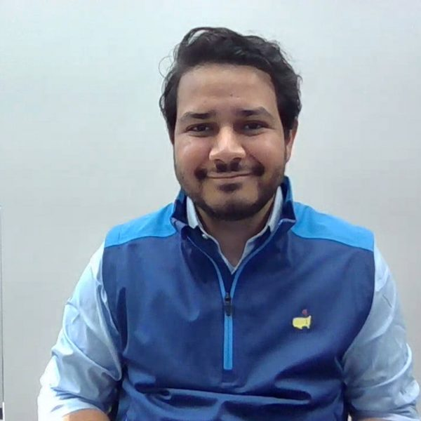 Roshan Shah with SAS User Feedback Award trophy