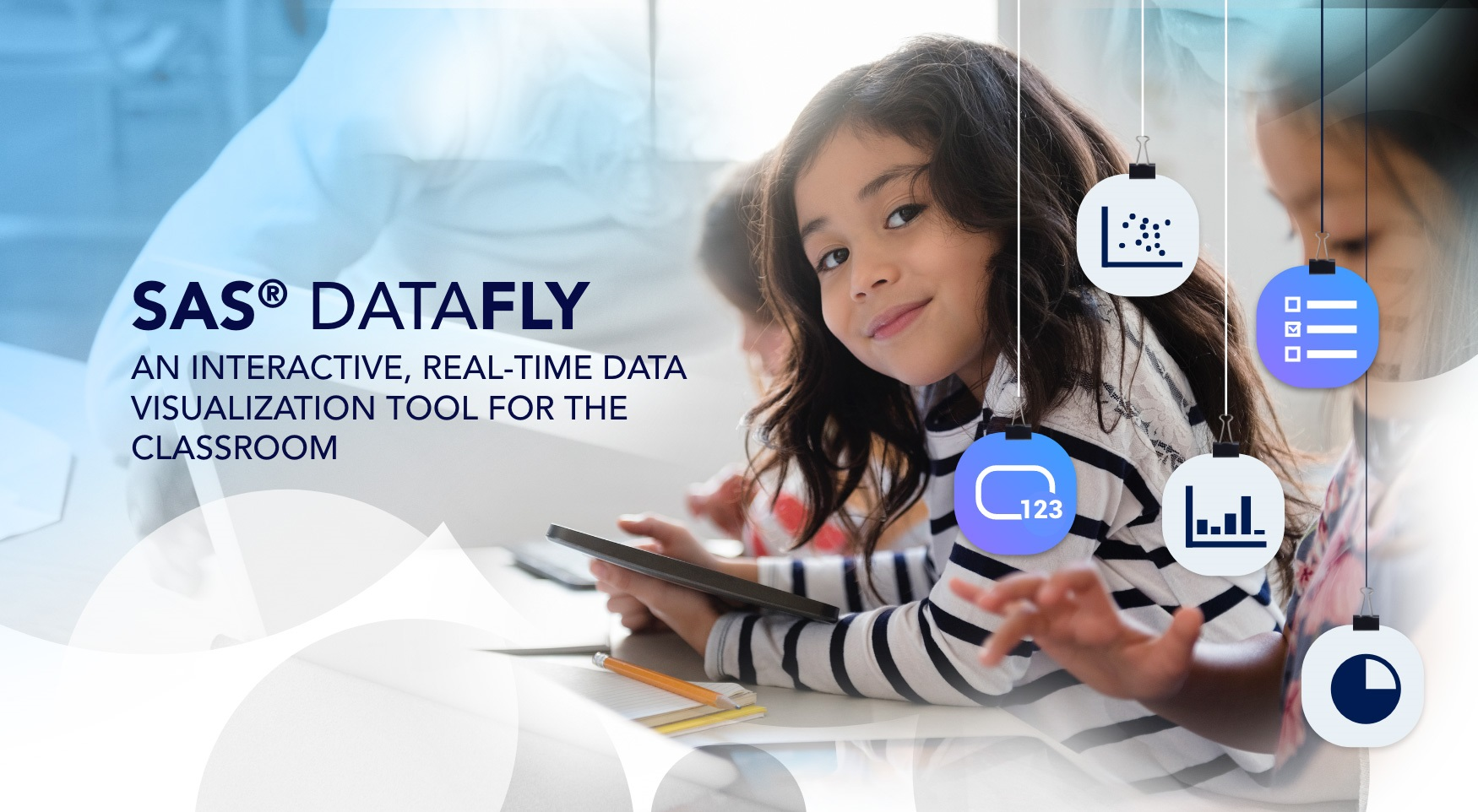 SAS® DataFly is an interactive, real-time data visualization tool for the classroom.