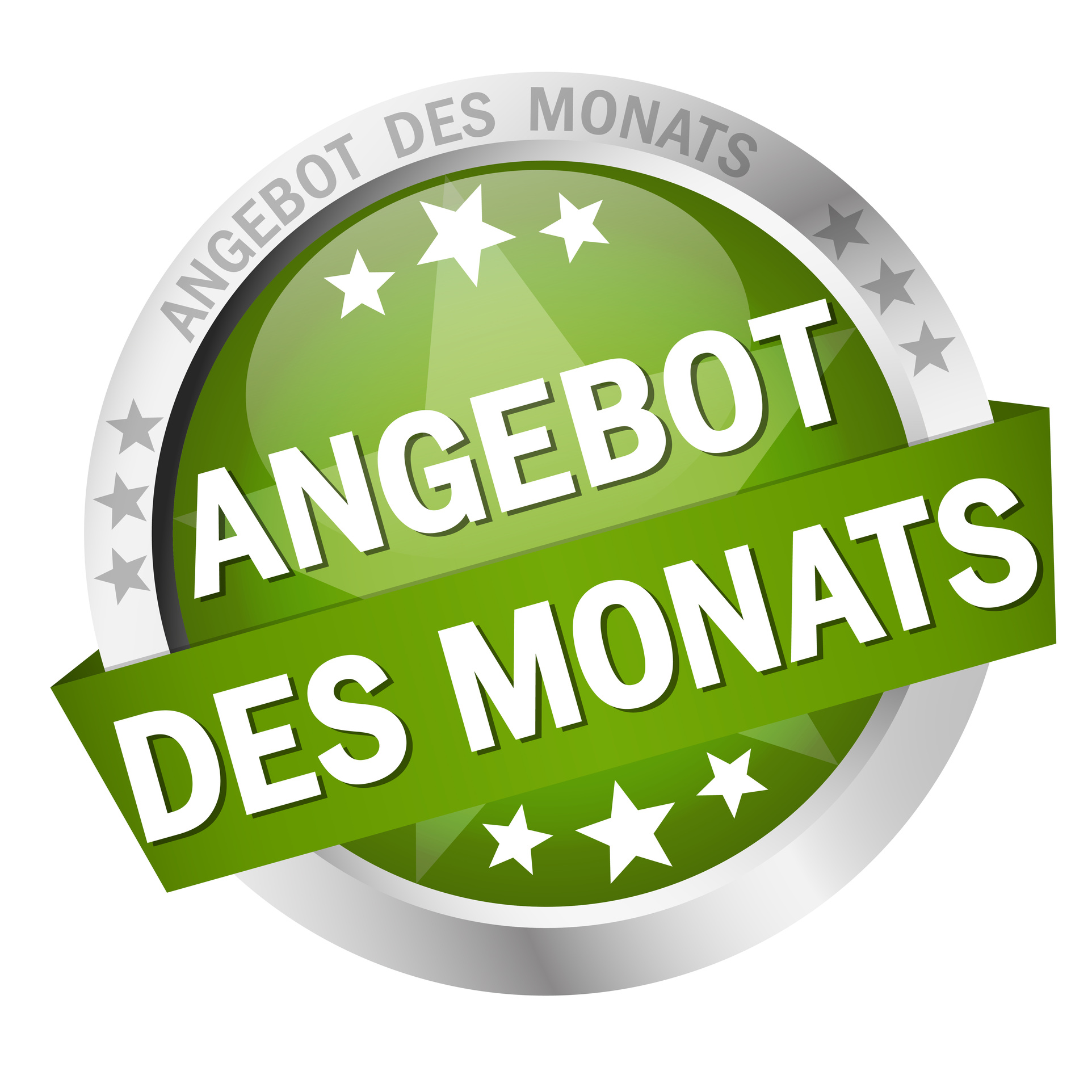Button with banner - Angebot des Monats