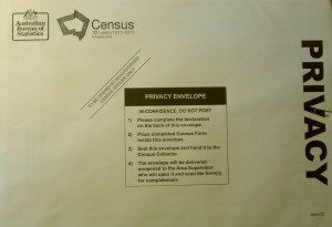 Census form from Australia