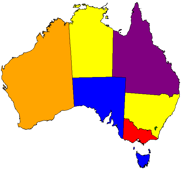 Not much detail in this map of Australia