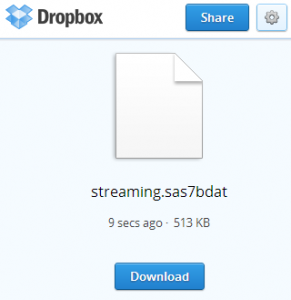 Using SAS to access data stored on Dropbox