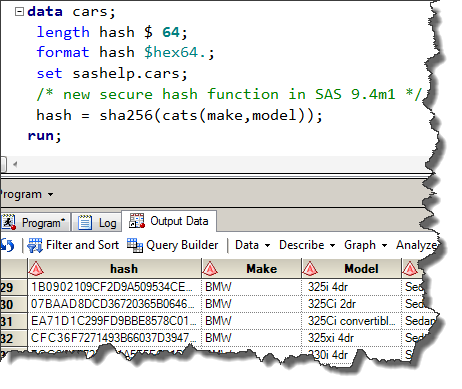 A fresh helping of hash: the SHA256 function in SAS 9.4m1