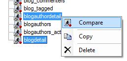 Compare programs menu