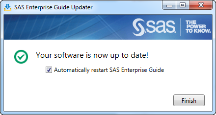 Your software is now up to date!